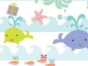 Sea Babies Gift Wrap Flat Sheet 60cm X 1.8m