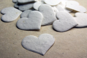 Heart Shape Seed Embedded Handmade Paper Tags (set of 50) White
