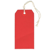 JAM Paper® - Red Small Gift Tags with String (3 1/4 x 1 5/8) - Box of 100