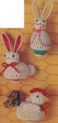 Vintage Crochet PATTERN to make - Easter Egg Covers Bunny Chicken. NOT a finished item. This is a pattern and/or instructions to make the item only.
