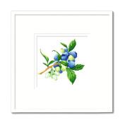 DOMEI Stamped Cross Stitch Kit, Blueberry, 31cm x 31cm