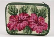 Coin Purse - Hibiscus - Needlepoint Kit