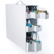 Totally-Tiffany Stash and Store Sparkle and Sprinkle Case, White