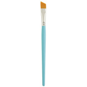 Princeton (2-Pack) 3750 Select Paint Brush Golden Synthetic Hair Mini Angular Shader Size 0.3cm 3750MAS-012-2P