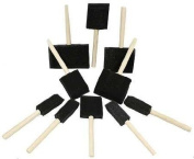 10 PC Wood Handles Foam Paint Brush Set -for Any Paint Job - Interior, Exterior, Touch-up or Arts & Crafts