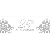 Silver 25th Anniversary Giant Banner