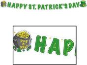 Beistle 33830 Happy St. Patrick's Day Streamer, 13cm by 1.5m