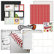 Scrapbook Customs Themed Paper and Stickers Scrapbook Kit, Baseball Journal