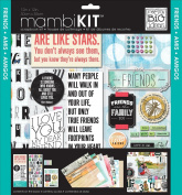 me & my BIG ideas SRK-139 Mixed Friends Mambi Scrapbook Kit, 30cm by 30cm