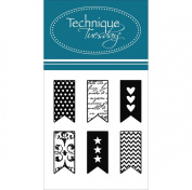 Technique Tuesday Clear Stamps 5.1cm x 6.4cm -Little Banners