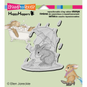 Stampendous Happyhopper Cling Rubber Stamp, 8.9cm by 10cm , Puddle Fun