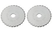 Dafa 45mm Rotary Cutter / Skip Blades, 2 Perforating Rotary Cutter Blades Per Pack