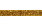 Trimweaver 1.6cm Glitter Fold Over Elastic for Craft, 5-Yard, Gold