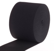 Cotowin 5.1cm Wide Black Heavy Knit Stretch Elastic 5 Yards