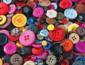 School Smart Craft Buttons - Assorted Sizes - 0.5kg - Assorted Colours