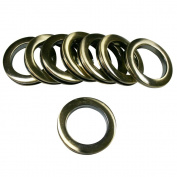 #15 Plastic Grommet, 4.8cm Id, 8 Sets, Brushed Antique Brass