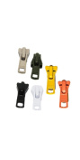 Zipperstop Wholesale YKK® Sale Zipper Repair Kit Vislon ~ YKK#5 Moulded Slider ~ Assortment Colours - Beige, Black, Olive Green,orange, White, Yellow