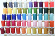 NEW 50 Cones Poly Embroidery Thread Brother / Babylock Colours SET II 40wt 550yards from ThreadNanny for Brother / Babylock Embroidery Machines like PE-700, PE700II, PE-750D, PE-770, PE-780D, SE270D, SE400, Innovis 1000, Innovis 1200, Innovis 1250D, PC ..