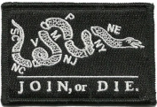 Join Or Die Tactical Patch - Black by Gadsden and Culpeper