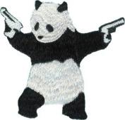 Application Panda With Gun Patch