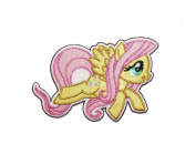 My Little Pony MLP Fluttershy Pegasus G4 Embroidered Iron On Applique Patch