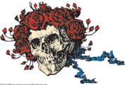 CandD Visionary Grateful Dead - Skull and Roses Clear Sticker