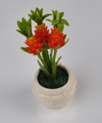 New Sweet Flower Pineapple Plant Miniature Clay Flower Plant for Dollhouse Fairy Gardens Dollhouse Display Kid Learning Tool Free Thai Lucky Gift