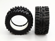 Traxxas 1/16 Mini E-Revo, Mini Summit Upgrade Parts Front/Rear Rubber Radial Tyre With Insert (40G) (Offroad Dirt Hawg Pattern) - 1Pr GPM Optional