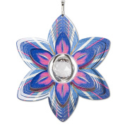 Iron Stop D7526-6 Flower Crystal Wind Spinner, 15cm