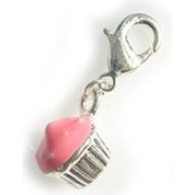 Dream Charms and Silver Jewellery Pink Fairy Cupcake Cake Clip Charm