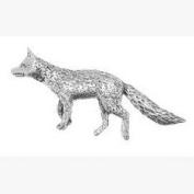 Fox Pin Badge Brooch Gift, Supplied in Organza Bag