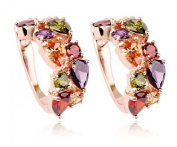 La Vivacita Monalisa Drop Earings with. crystal 18ct rose gold plated gift for women and girls