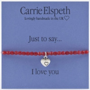Carrie Elspeth Just To Say I Love You Heart Bracelet