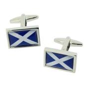 Scotland Scottish Flag Metal Gents Cufflinks Cuff Links by Jakob Strauss