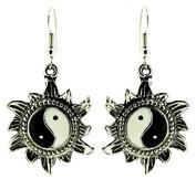 Yin Yang Earrings With Detail