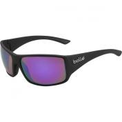Bolle Tigersnake Adult Sport Sunglasses, Matte Black/Blue Purple, Large
