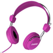 Laser AO-HEADK-PK Headphones Stereo Kids Friendly Colourful Pink