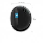 Microsoft Sculpt Ergonomic Mouse - BlueTrack - Wireless - 7 Button(s) - Black - Radio Frequency -