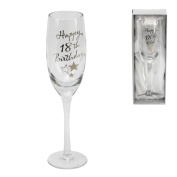 18th Birthday Stars Champagne Flute Glass Gift
