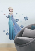 Disney® Frozen -wallpaper murals-Disney Frozen Collection Wall Graphics- Disney Frozen Elsa Peel and Stick Giant Wall Decals-wall decals are life-size action images that you stick on any smooth surface- high-grade vinyl that's tear and fade resistant- ..