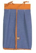 Trend Lab Stripe and Dot Nappy Stacker, Navy Blue/Orange