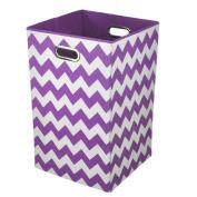 Modern Littles Hampers Colour Pop Purple Chevron Laundry Bin BRILAUN101