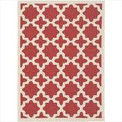 Safavieh CY6913-248 Courtyard Collection Indoor/Outdoor Area Rug, 1.8m by 2.7m, Red/Bone