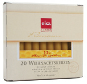 Brubaker By Eika Box of 20 Finest Beeswax Tree Candles Honey Yellow 10% Beeswax High 10.5 Cms, ø 1.25 Cms Made in Germany