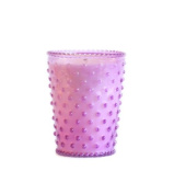 K. Hall Designs No-41 Lilac Hobnail Glass Candle, 470ml