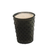 K. Hall Designs No-27 Black Forest Hobnail Glass Candle, 470ml