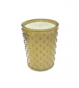 K. Hall Designs No-7 Sea Salt Caramel Hobnail Glass Candle, 470ml