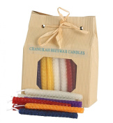 Chanukah Candles for Menorah Hanukkah Celebrations 45 Beeswax Candles Multi Colours