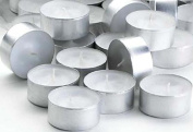 Waxations Superior Quality Tealight Candles White Unscented Set of 125 Long 4-5 Hour Burn Time