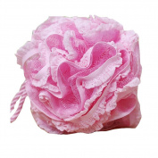 Flower Shape Bath and Shower Sponge Gentle Exfoliating Mesh Bath Sponge